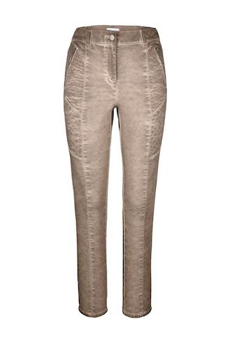 MIAMODA Hose mit streckenden Teilungsnähten und Steppungen kaufen