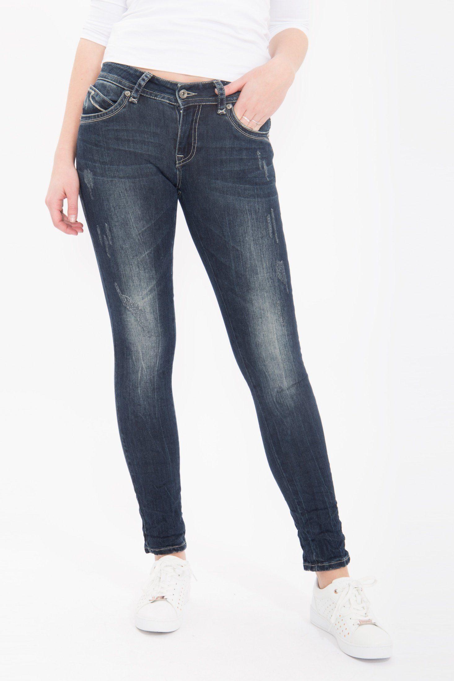 Blue Monkey Skinny-fit-Jeans Laura 1630 | Bekleidung > Jeans > Sonstige Jeans | Blau | Blue Monkey
