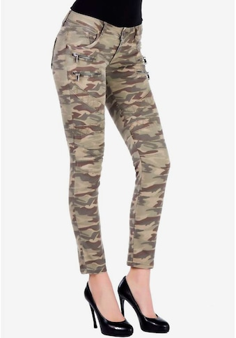 Cipo & Baxx Slim-fit-Jeans, in aufregendem Military-Design kaufen