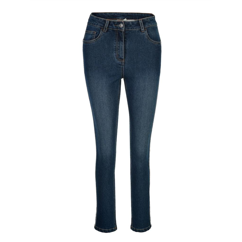 Mona Jeans mit Strasszier an den Seiten