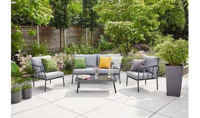 SIENA GARDEN Loungeset »Casita«, 11 - tlg., 2er Sofa, 2 Sessel, Tisch 55x110 cm, Alu kaufen