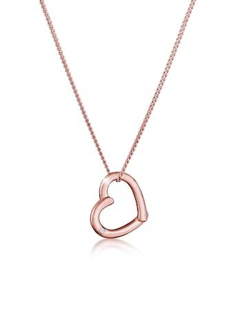 Diamore Collierkettchen »Herz Anhänger mit Diamant (0.02 ct.) 925 Silber« kaufen