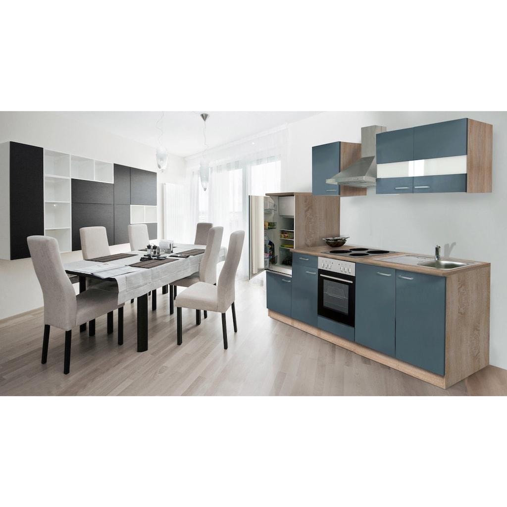 RESPEKTA Küchenzeile »Anna«, mit E-Geräten, Breite 270 cm, mit Edelstahl-Kochmulde