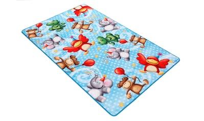 Böing Carpet Kinderteppich »Lovely Kids LK-4 Affen«, rechteckig, 2 mm Höhe, Motiv... kaufen