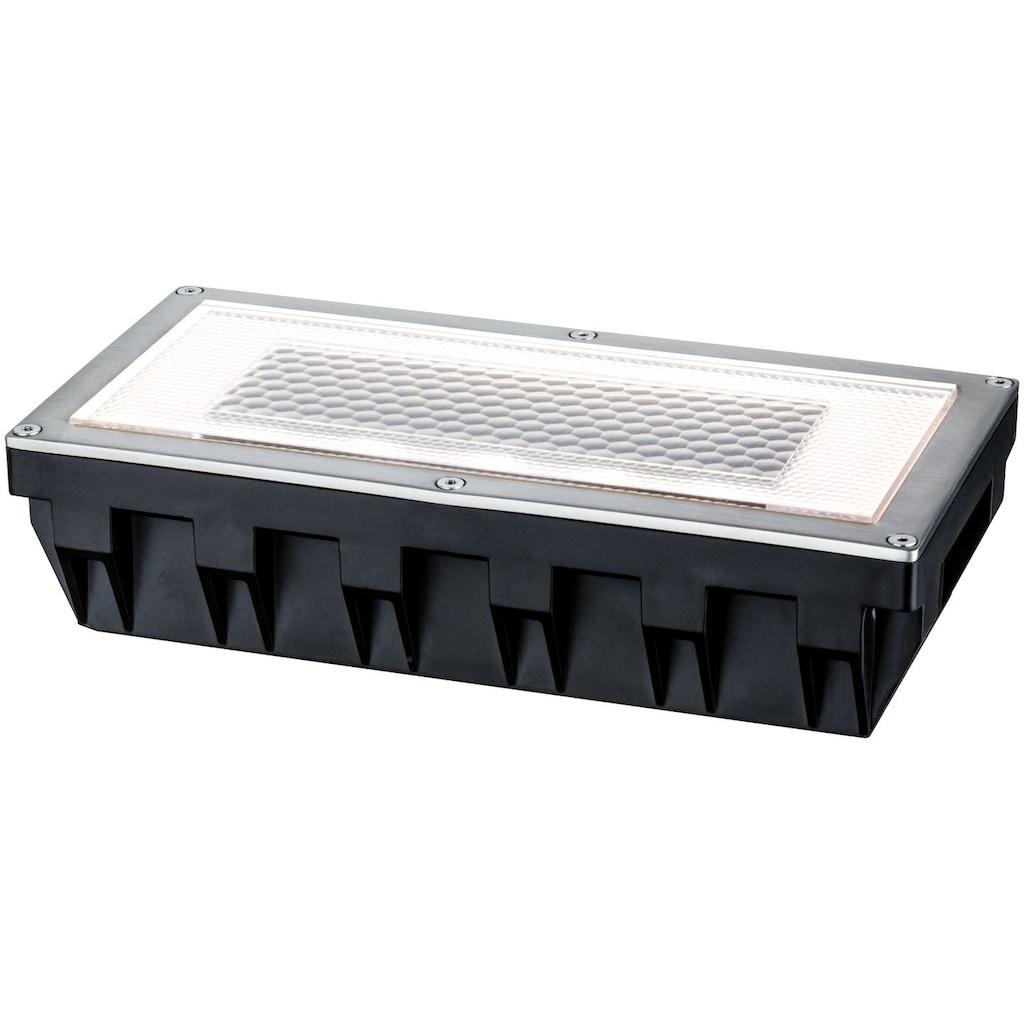 Paulmann LED Einbauleuchte »Box«, LED-Board, 1 St., Warmweiß, Bodeneinbauleuchten-Set, Solar, Edelstahl
