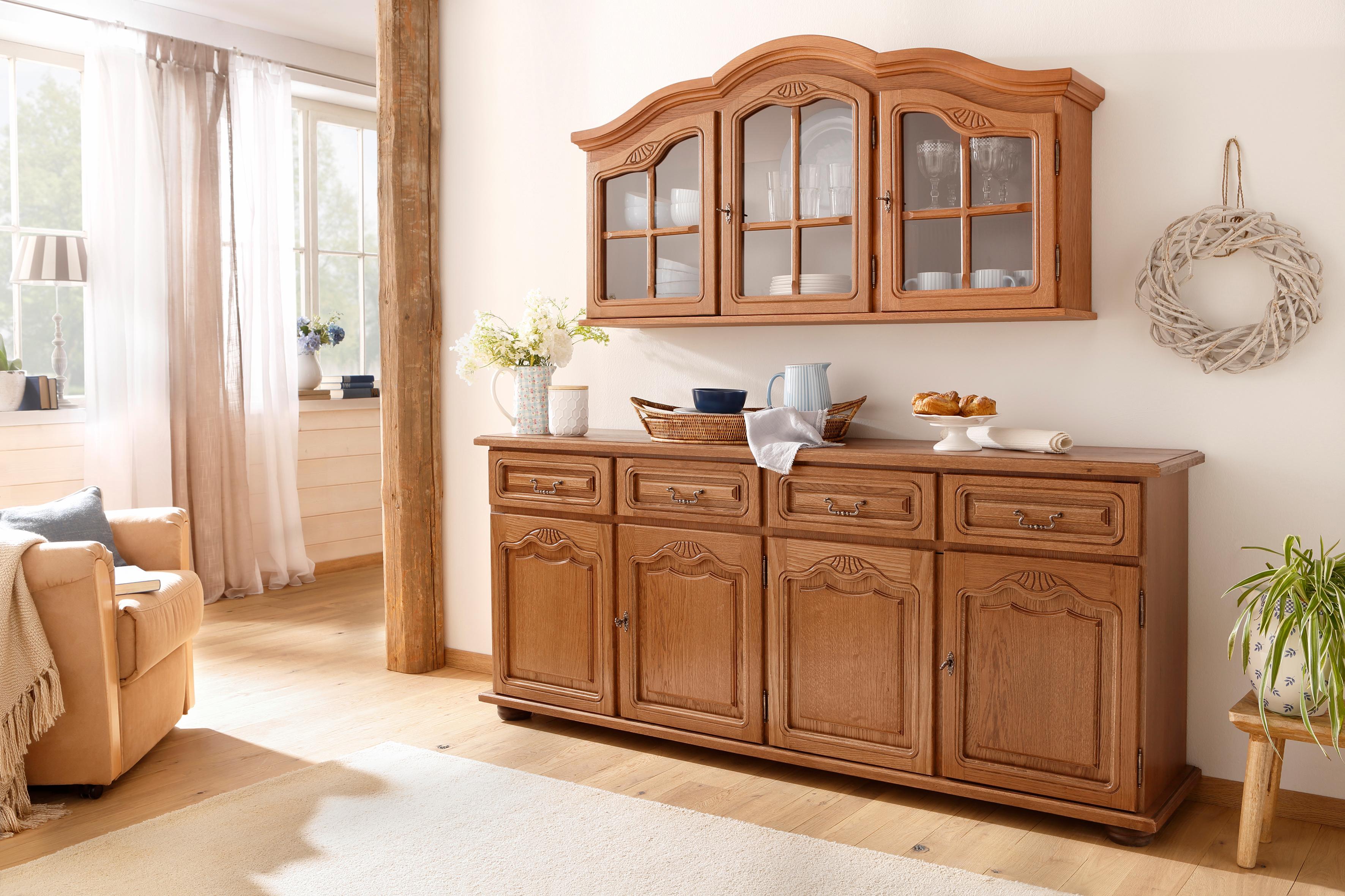 Home affaire Sideboard 4trg. »Hans«, Breite 182 cm, im rustikalen Landhausstil