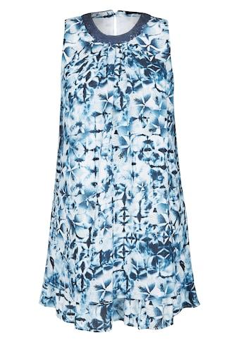 Thomas Rabe Kleid mit Allover - Muster und Wellensaum kaufen