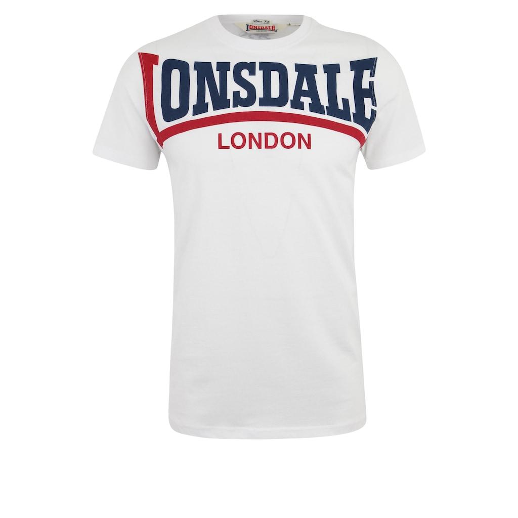 Lonsdale T-Shirt »CREATON«, mit großem Frontdruck