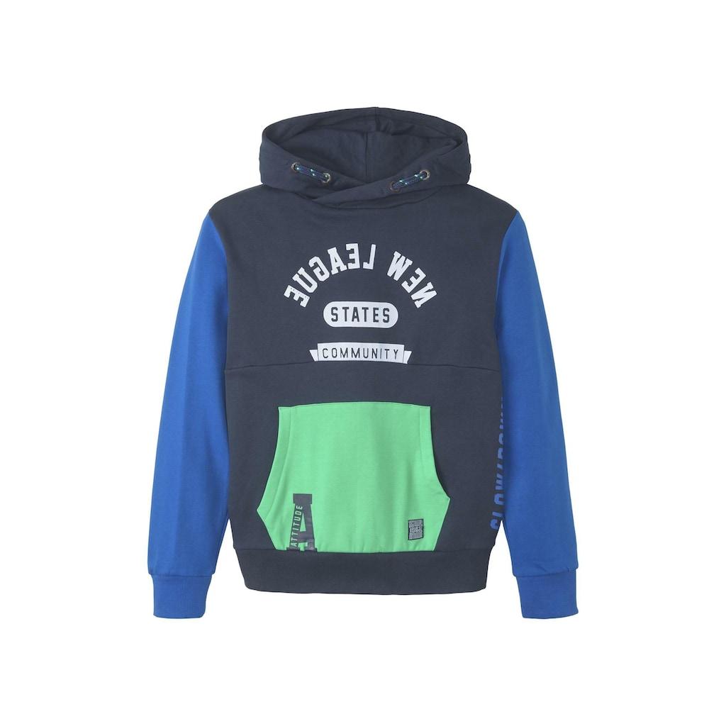 TOM TAILOR Sweatshirt »Patchwork Hoodie«