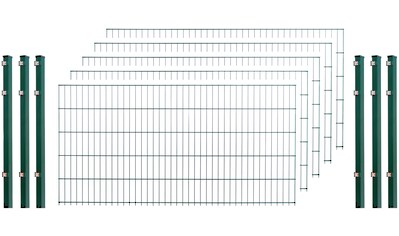 Doppelstabmattenzaun , 5 Stk., LxH: 10x1 m, grün kaufen