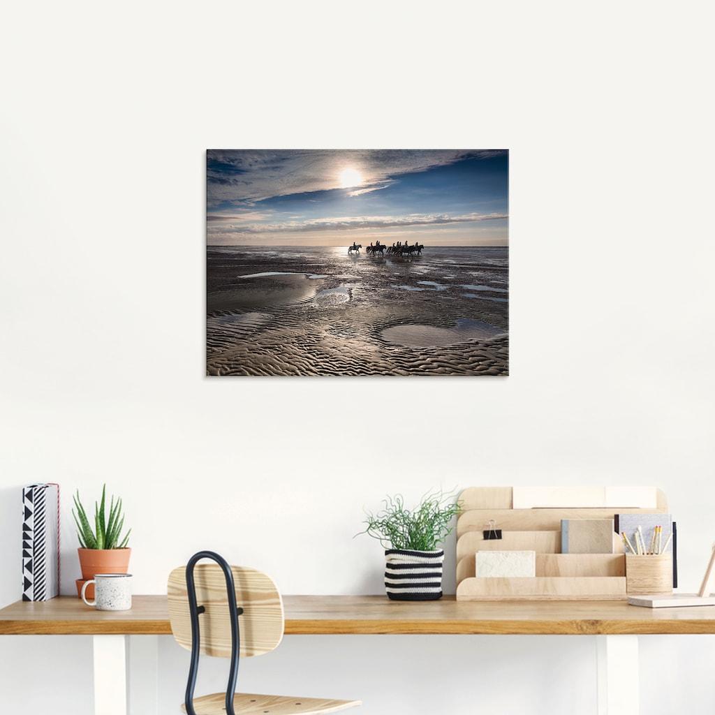 Artland Glasbild »Freiheit am Meer«, Strand, (1 St.)