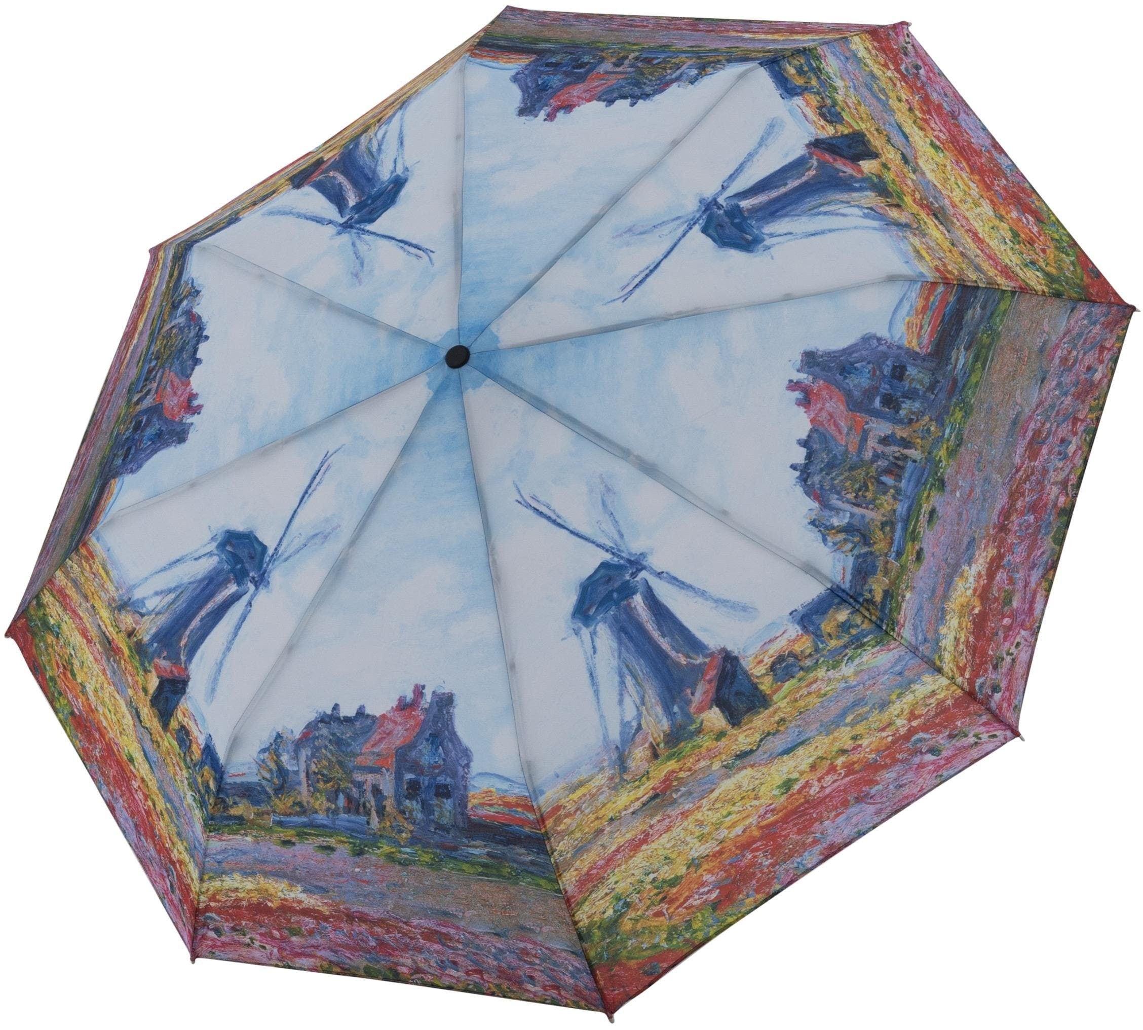 "doppler Taschenregenschirm ""Art Collection Magic Monet Windmühle"" Damenmode/Schmuck & Accessoires/Accessoires/Regenschirme/Taschenschirme"