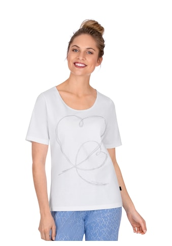 Trigema T - Shirt mit Herz - Motiv auf Vorderseite kaufen
