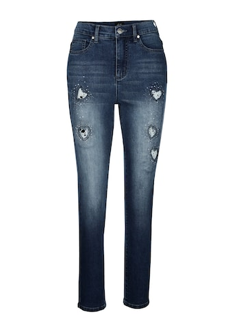 Paola Skinny-fit-Jeans, mit Cut-outs in Herzform mit Spitze kaufen