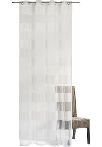 ELBERSDRUCKE Gardine »Blockbuster«, Ösenschal Blockbuster 00 weiß 255x140 cm... kaufen