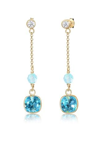 Elli Paar Ohrhänger »Kristalle Blau 925 Silber vergoldet« kaufen