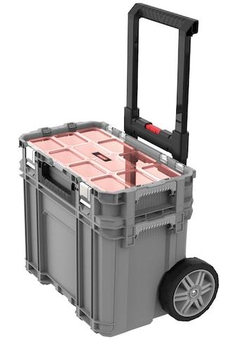 """Keter Werkzeugtrolley »Connect«, 2-teiliges System, 7"""" Gummiräder, Teleskopgriff, mit Connect Sortimentskasten kaufen"""