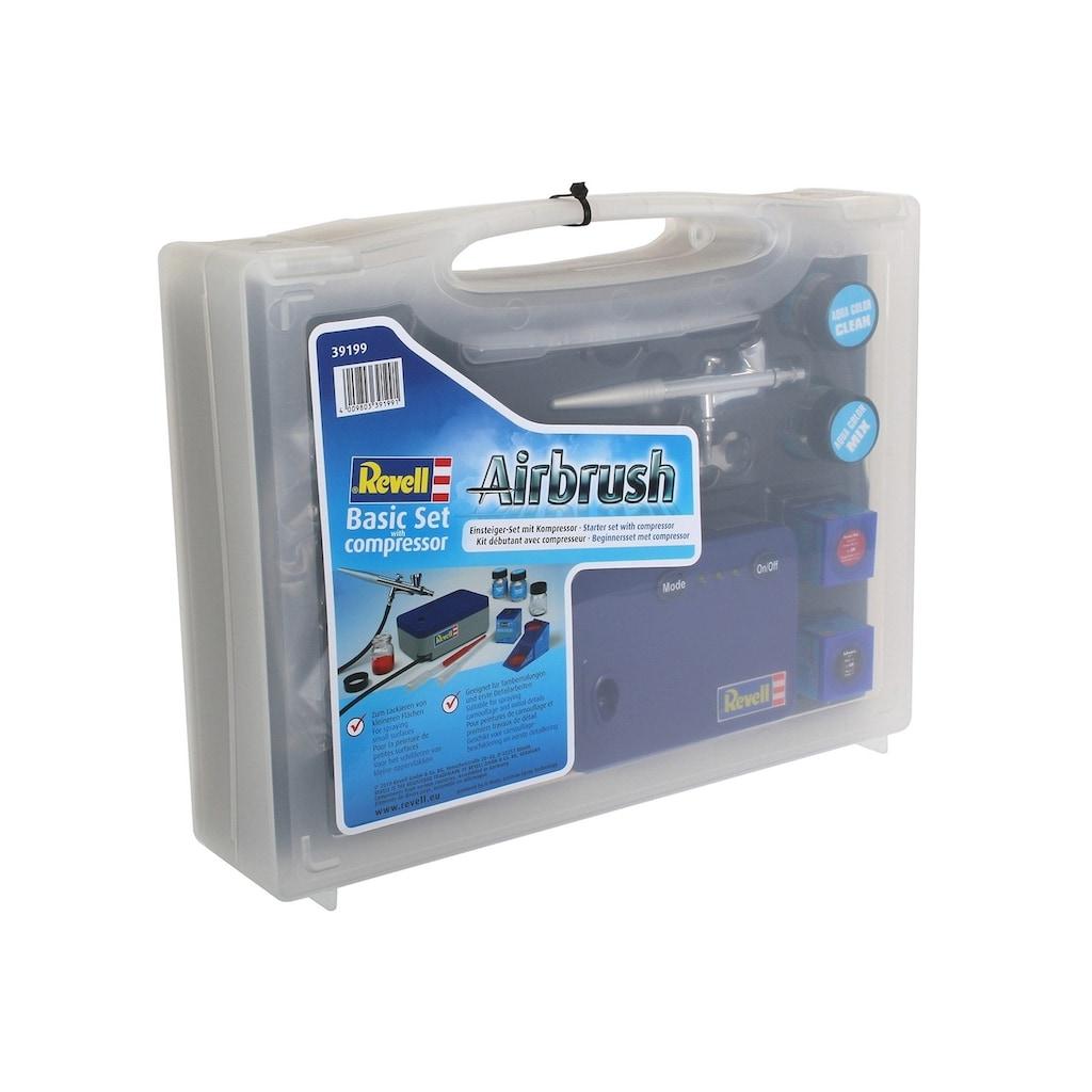Revell® Farbsprühgerät »Airbrush Komplett-Set, Basic Set mit Kompressor«