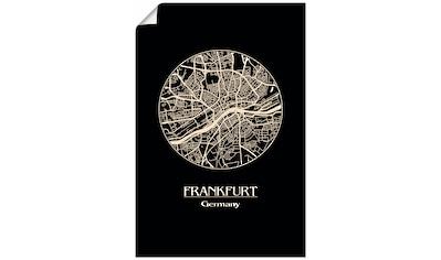 Artland Wandbild »Retro Karte Frankfurt Deutschland Kreis« kaufen