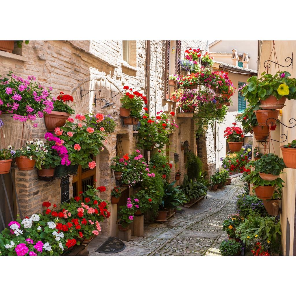 Papermoon Fototapete »Flower Alley in Spello«