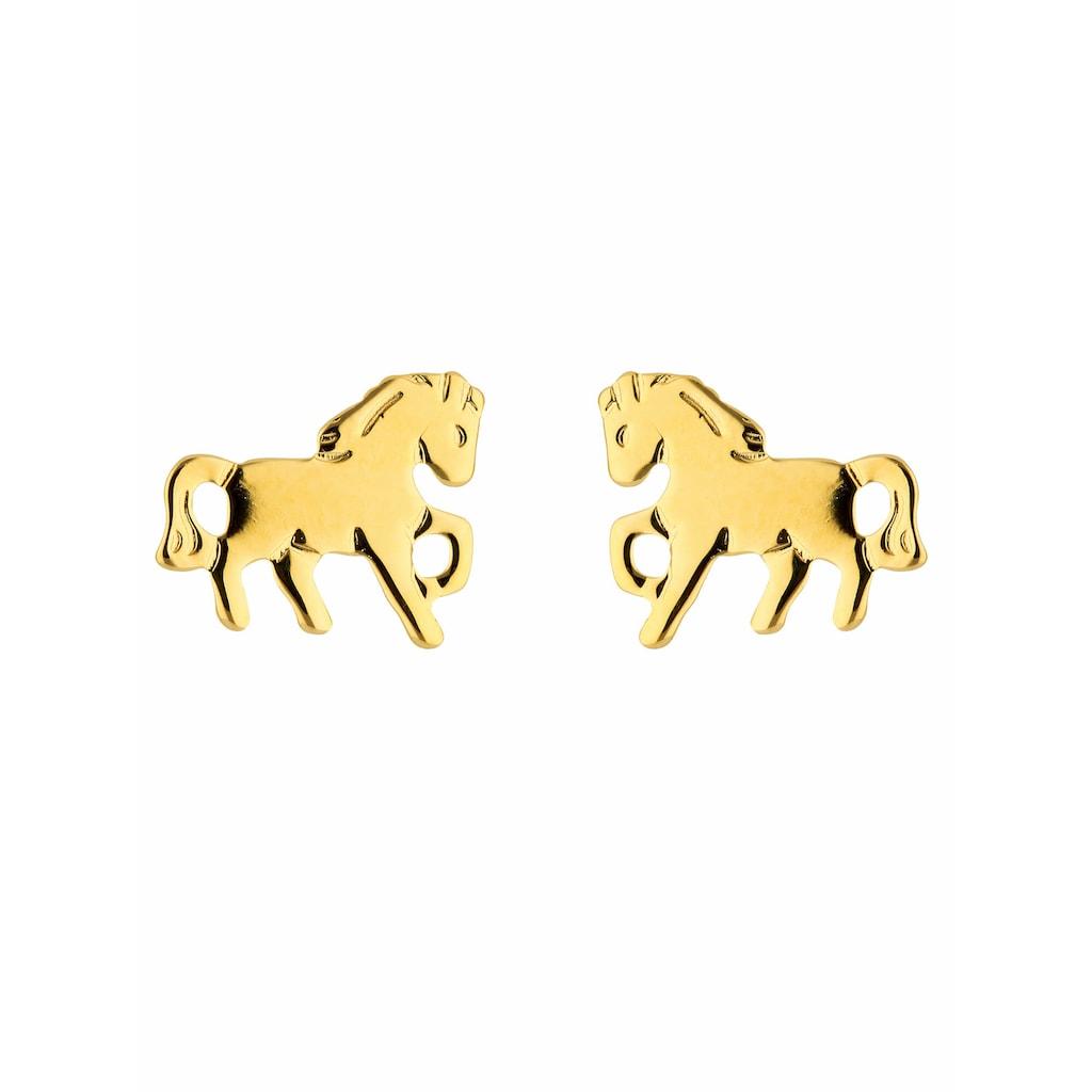 Adelia´s Paar Ohrstecker »585 Gold Ohrringe / Ohrstecker Pferd«, Goldschmuck für Damen
