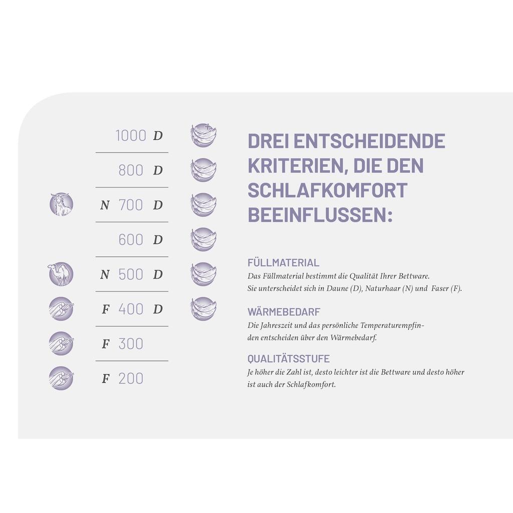 Schlafstil Baumwollbettdecke »F400«, normal, (1 St.), hergestellt in Deutschland, allergikerfreundlich