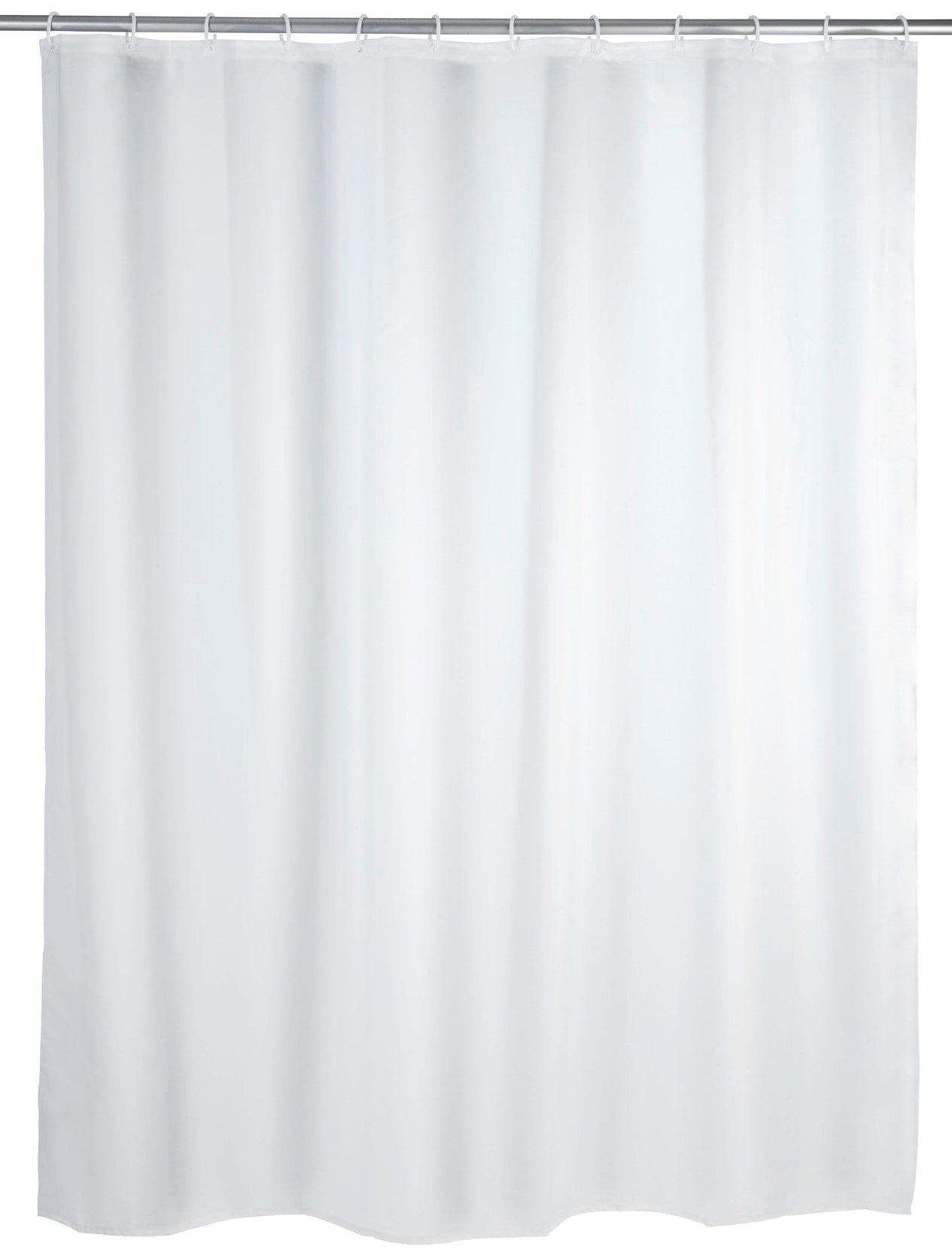 WENKO Duschvorhang Uni, Breite 180 cm, Höhe 200 Textil (Polyester) weiß Duschvorhänge Duschen Bad Sanitär