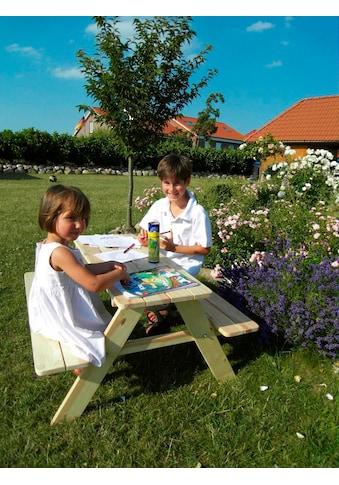 PROMADINO Kinderpicknicktisch »Limobank«, B/L/H: 90/90/49 cm kaufen