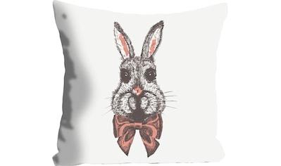 queence Kissenhülle »Birger«, (1 St.), mit einem Hasen mit Fliege kaufen