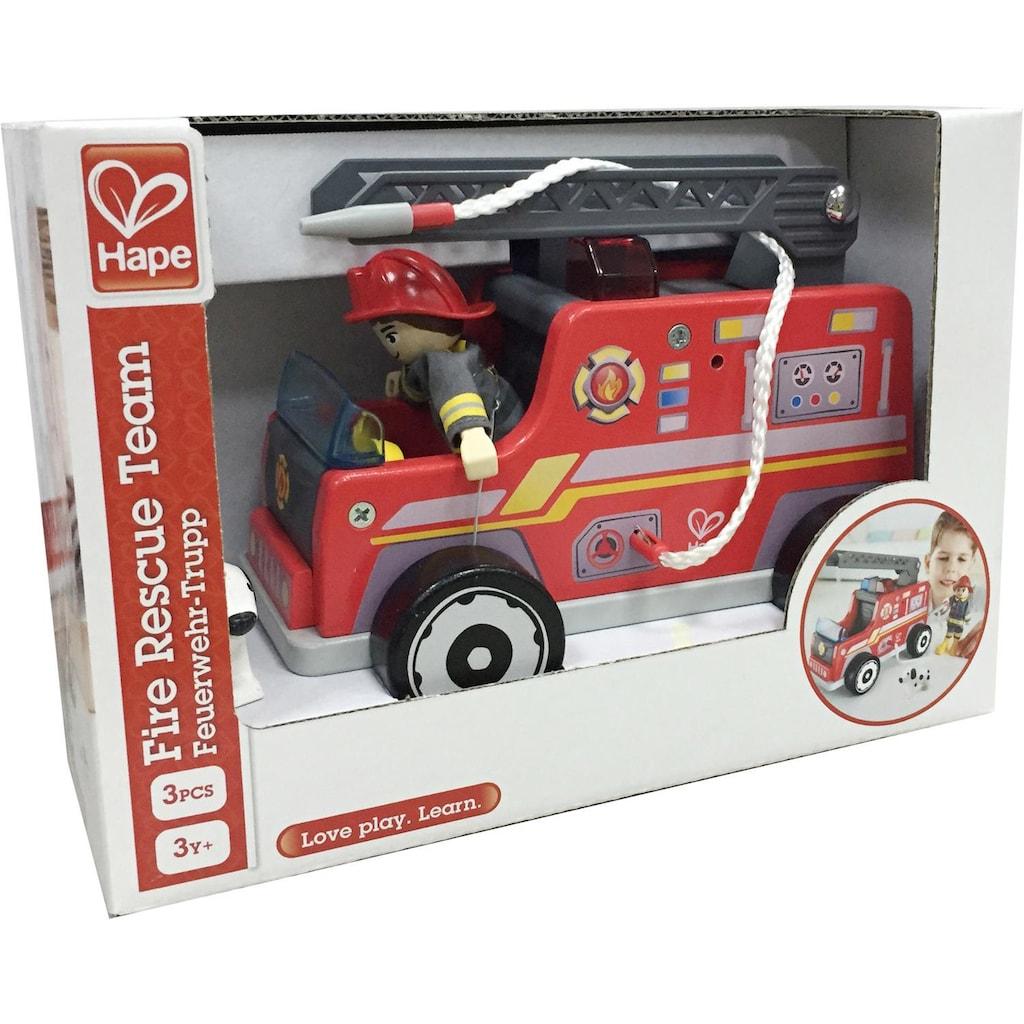 Hape Spielzeug-Feuerwehr »Feuerwehr-Trupp«, aus Holz