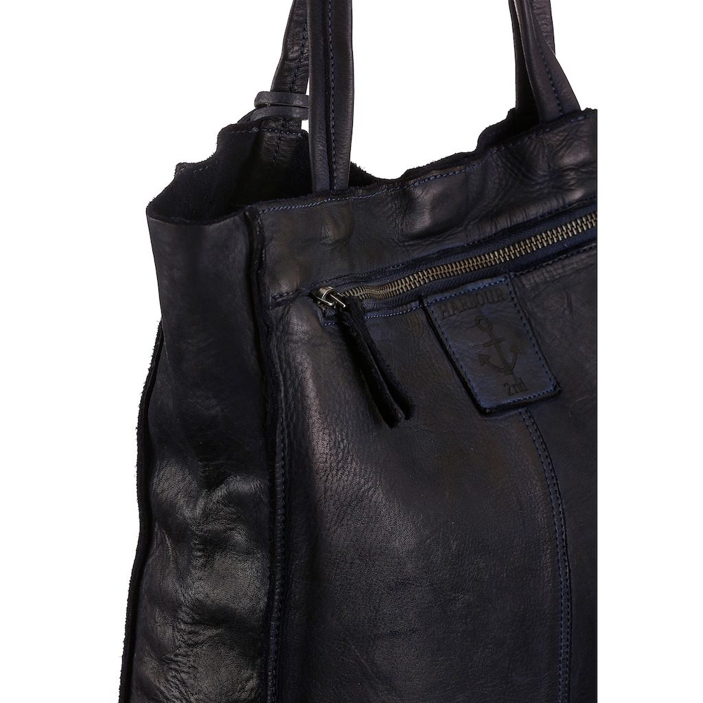 HARBOUR 2nd Shopper »Elbe 1«, aus Leder mit typischen Marken-Anker-Label und Schmuckanhänger