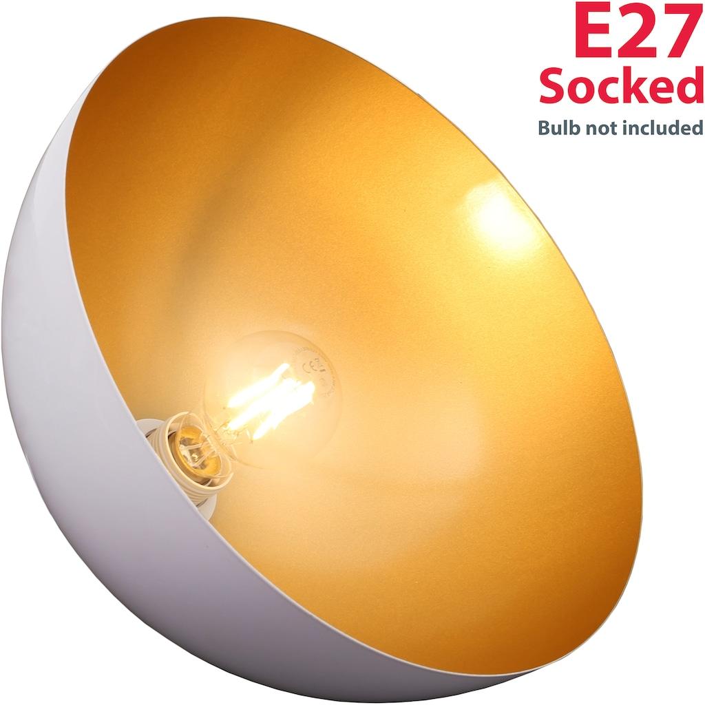 B.K.Licht Pendelleuchte »Auriga«, E27, 2 St., Design Hängelampe Hängeleuchte weiß-gold Wohnzimmer Esszimmer E27