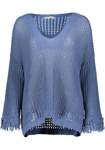 Please Jeans Rundhalspullover »M4977«, mit luftdurchlässigem Lochmuster kaufen