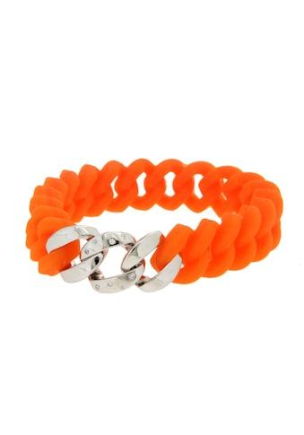 La Piora Armband »Flexibles Armband«, Panzer-Design in orange mit Zirkonia, 925/-... kaufen