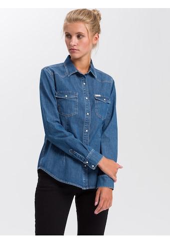 Cross Jeans® Jeanshemd »A 535«, Taillliertes Jeanshemd kaufen