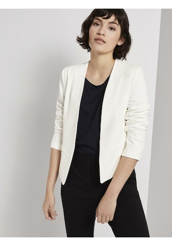 TOM TAILOR mine to five Blusenblazer »Kragenloser Jersey-Blazer « kaufen