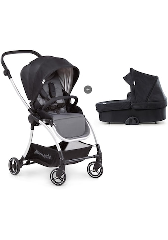 Hauck Kombi-Kinderwagen »Eagle 4S Duoset,black/grey«, mit Babywanne, Fußsack und... kaufen