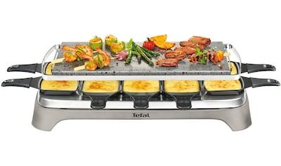 Tefal Raclette Pierrade PR457B; 10 Personen; Grill - Platte aus Stein, 10 Raclettepfännchen, 1350 Watt kaufen