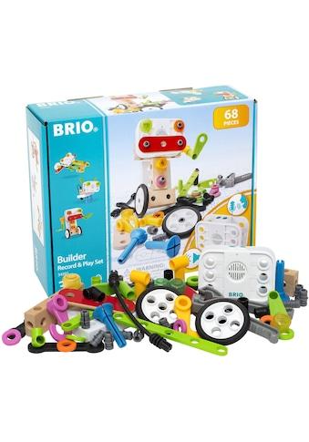 """BRIO® Konstruktions - Spielset """"Builder Record & Play Set"""", Holz Kunststoff, (68 - tlg.) kaufen"""