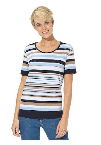 Casual Looks Shirt im garngefärbten Ringeldessin kaufen