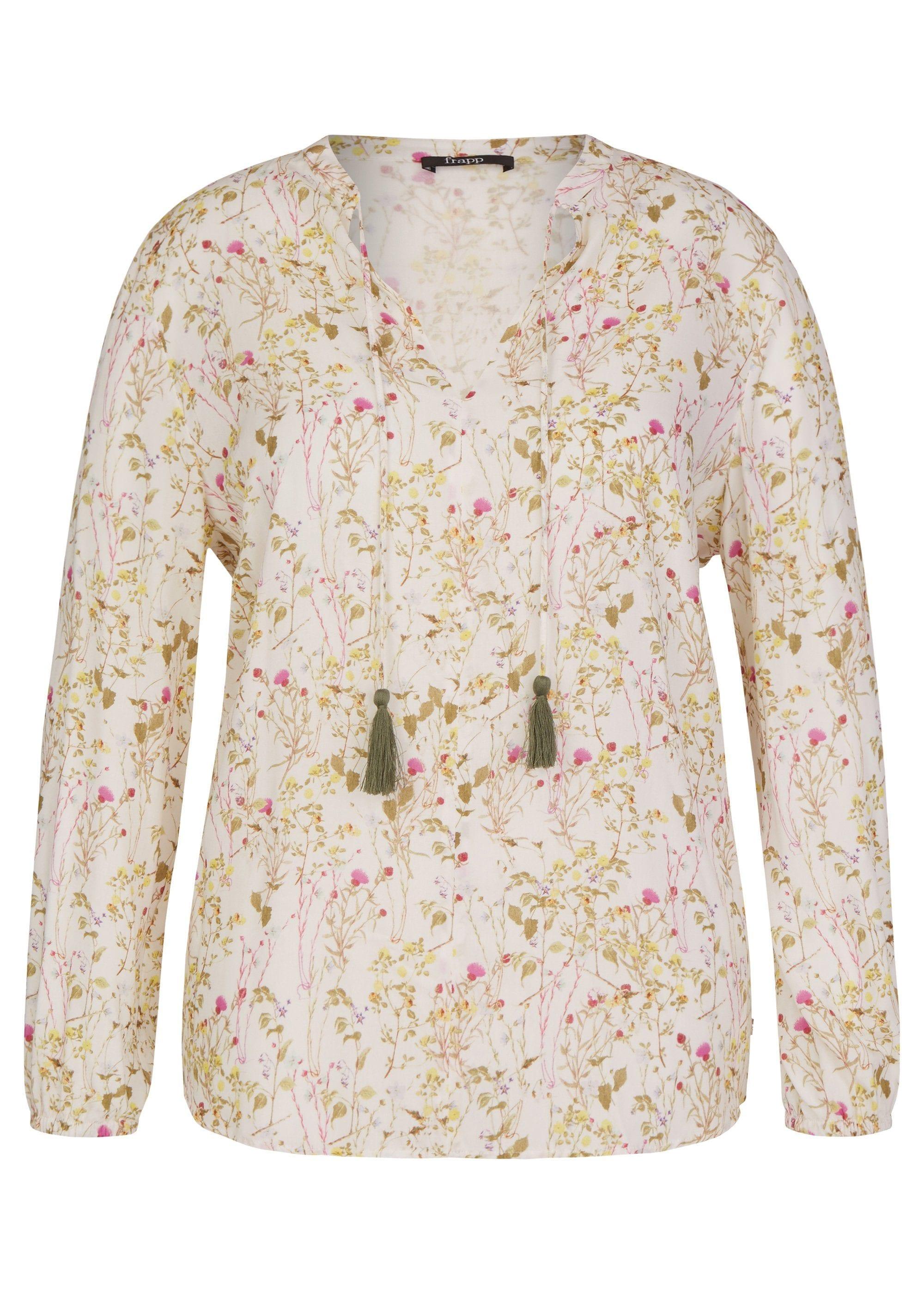 FRAPP Zarte Bluse mit Blumen-Print