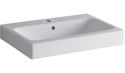 GEBERIT Waschbecken »iCon«, mit Hahnloch, mit Überlauf, weiß, KeraTect kaufen