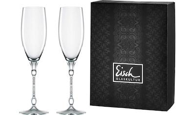Eisch Champagnerglas »10 Carat«, (Set, 2 tlg.), handgefertigtes, bleifreies Kristallglas, 280 ml kaufen