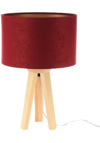 Jens Stolte Leuchten Tischleuchte »Paula«, E27, 2 St., Textiltischleuchte, rot,... kaufen