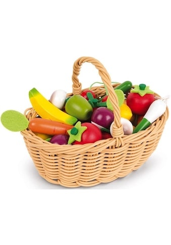 """Janod Spiellebensmittel """"Obst -  und Gemüse Sortiment im Korb"""" kaufen"""