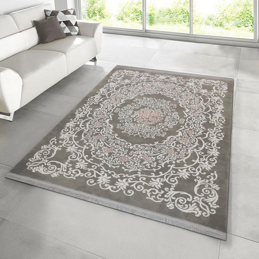 RESITAL The Voice of Carpet Teppich »Fendi 12922«, rechteckig, 11 mm Höhe, Kurzflor, gewebt, Hoch-Tief-Struktur, Wohnzimmer