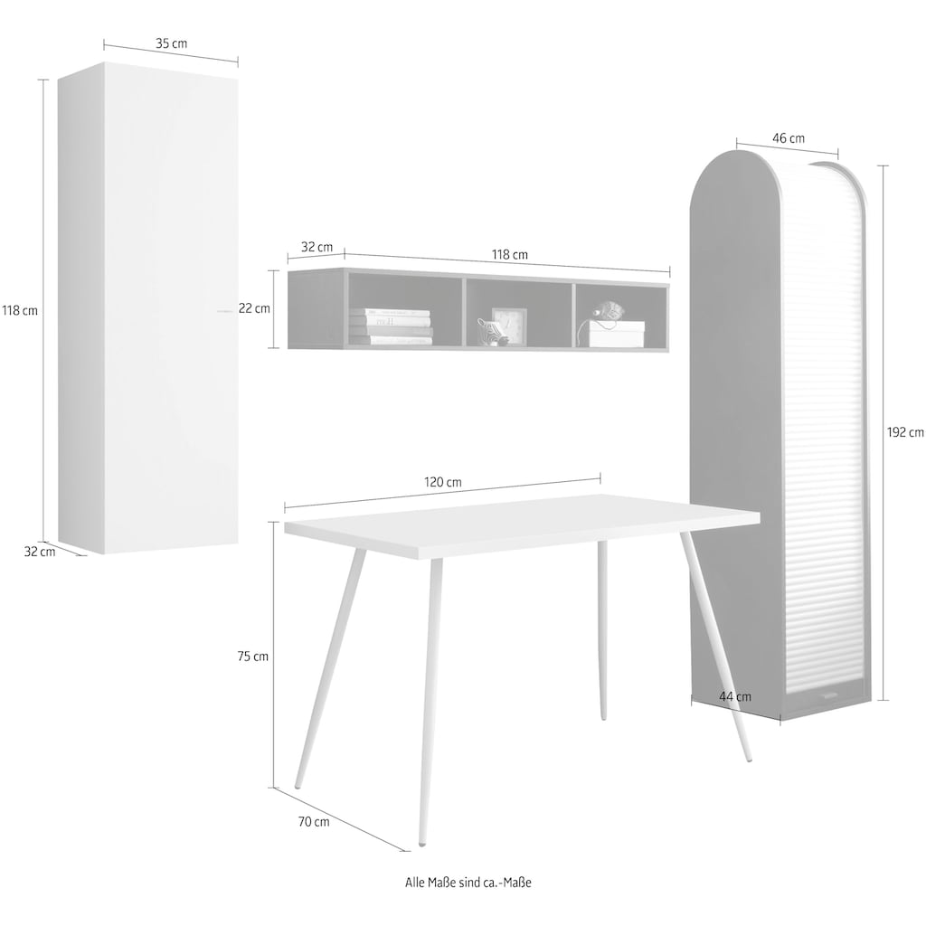 Büro-Set »Big System Office«, (4 St.)