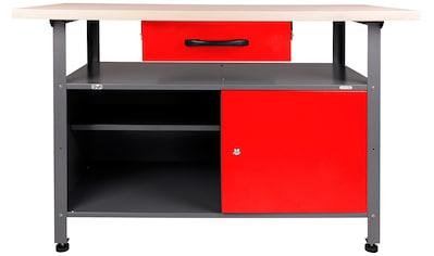 ONDIS24 Werkbank »Klaus«, höhenverstellbar, ca. 120 x 60 x 85 cm kaufen