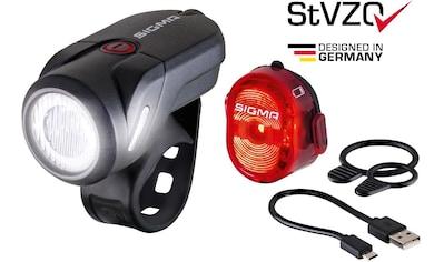 SIGMA SPORT Fahrradbeleuchtung »AURA 35 USB / NUGGET II K - Set« (Spar - Set, 4 - tlg., Front -  und Rücklicht) kaufen