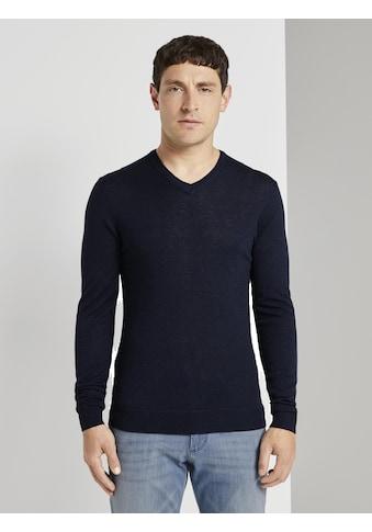 TOM TAILOR Strickpullover »Feiner Pullover aus Merinowolle« kaufen